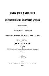 Geschichtschreiber der husitischen Bewegung in Böhmen: Band 1;Band 6
