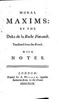 Moral Maxims PDF