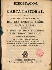 Carta Pastoral ... a los Párrocos castrenses ...