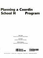 Planning a Coordinated School Health Program