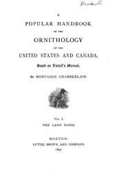 A Popular Handbook of the Ornithology of the United States and Canada: Based on Nuttall's Manual