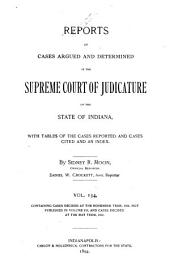 Reports of Cases Argued and Determined in the Supreme Court of Judicature of the State of Indiana: Volume 134