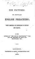 Pen pictures of popular English preachers     By the author of    The life of Chatterton     etc   The preface signed  J  D   i e  John Dix  afterwards Ross   PDF