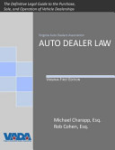 Auto Dealer Law, Virginia First Edition