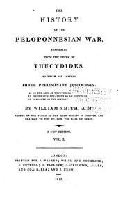 The History of the Peloponnesian War: Volume 1