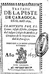 Tratado de la peste de Çaragoça en el año 1652