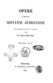 Opere di monsignor Giovanni Guidiccioni nuovamente raccolte e ordinate a cura di Carlo Minutoli: Volume 2
