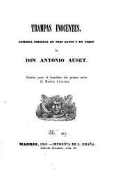 Trampas inocentes: comedia original en tres actos y en verso