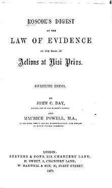 Roscoe s Digest of the Law of Evidence on the Trial of Actions at Nisi Prius PDF