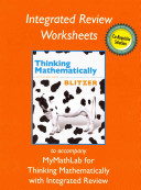 Worksheets Plus NEW MyMathLab with Pearson EText for Thinking Mathematically with Integrated Review