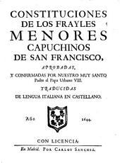 Constituciones de los Frailes Menores Capuchinos de San Francisco
