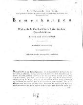 Bemerkungen zu Heinrich Zschokke's Baierischen Geschichten