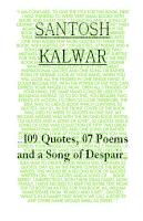 109 Quotes  07 Poems and a Song of Despair PDF