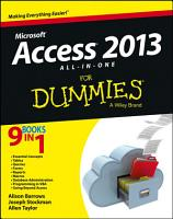 Access 2013 All in One For Dummies PDF