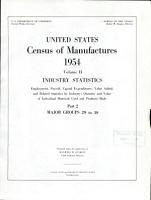United States Census of Manufactures  1954 PDF