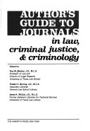 Author s Guide to Journals in Law  Criminal Justice    Criminology PDF
