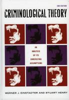 Criminological Theory PDF