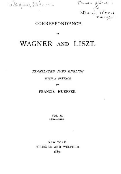 Download Correspondence of Wagner and Liszt Book