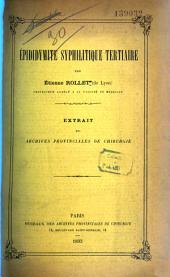 Epididymite syphilitique tertiaire