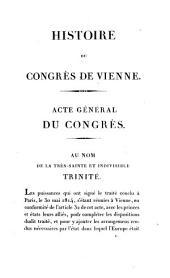 Histoire du Congrès de Vienne, par l'auteur de l'Histoire de la diplomatie française: Volume 3