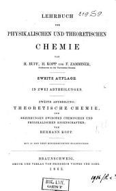 Lehrbuch der physikalischen und theoretischen Chemie: Band 2