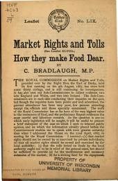 Market Rights and Tolls: How They Make Food Dear