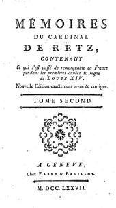Mémoires du Cardinal de Retz: Volume2