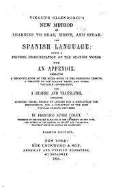 Vingut's Ollendorff's new method of learning to read, write, and speak the Spanish language ...