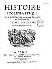 Histoire ecclésiastique, par M. Fleury,... Tome I [-XX]