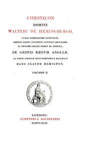 Chronicon domini Walteri de Hemingburgh