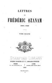 Lettres de Frédéric Ozanam, 1831-1853 ...