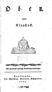 Oden von Klopstock