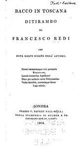 Bacco in Toscana: ditirambo