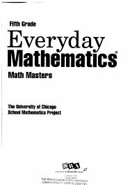 Everyday Mathematics  Math masters PDF