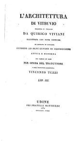 L'architettura di Vitruvio: Volumi 3-4