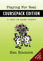 Playing for Real  Coursepack Edition PDF