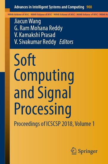 Soft Computing and Signal Processing PDF