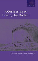 A Commentary on Horace, Odes