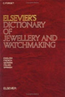 Elsevier s dictionary of jewellery and watchmaking