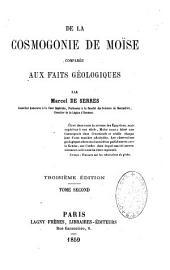 De la cosmogonie de Moïse comparée aux faits géologiques: Volume2
