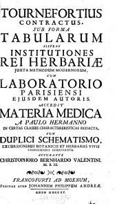 Tournefortius contractus, sub forma tabularum sistens institutiones rei herbariae ...