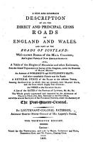 A New and Accurate Description of all the direct and principal Cross Roads in England and Wales  and part of the roads of Scotland     The thirteenth edition PDF
