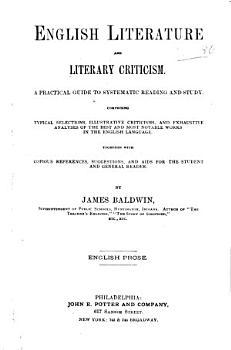 English Language and Literary Criticism  English prose PDF