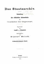Das Staatsarchiv: Volumes 68-70