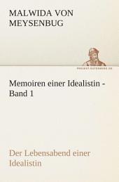 Memoiren Einer Idealistin - Band: Band 1
