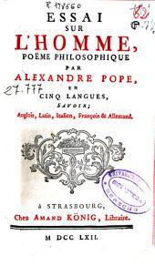 Essai sur l'homme, poeme philosophique