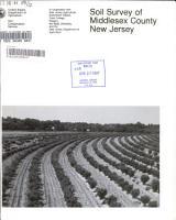 Soil Survey of Middlesex County  New Jersey PDF