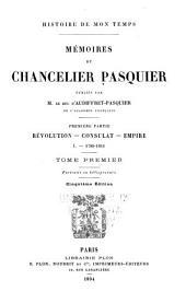 Histoire de mon temps: 1789-1812; v. 2. 1812-1814; v. 3. 1814-1815.- Pt. 2. Vol. 4-6. Restauration: v. 4. 1814-1820; v. 5. 1820-1824; v. 6. 1824-1830