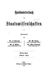Handwörterbuch der Staatswissenschaften: Band 5