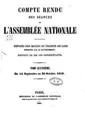 Compte rendu des séances des l'Assemblée nationale: Volume4